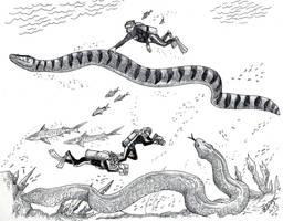Real Life Sea Serpents by HodariNundu