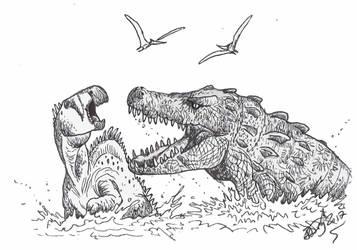 Deltasuchus by HodariNundu