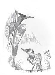 Big Woodpeckers by HodariNundu