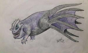 Weird Ursula sea dragon lizard thing by HodariNundu