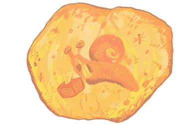Prehistoric snail preserved with soft tissues by HodariNundu