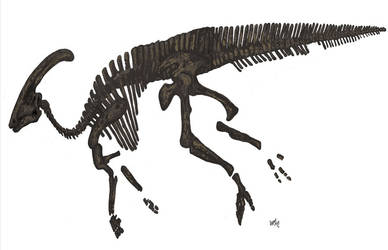 Parasaurolophus! by HodariNundu