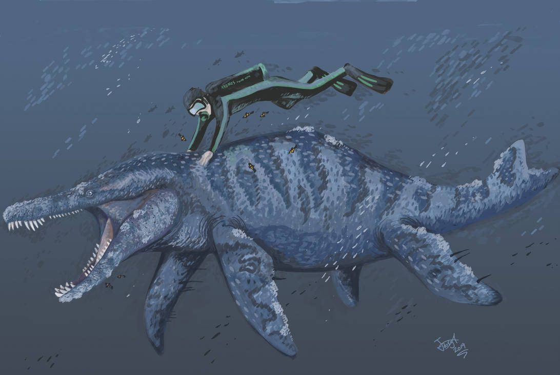 Diving with Sachicasaurus by HodariNundu
