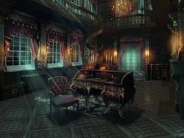 Mansion Corridor by ArtifexMundi