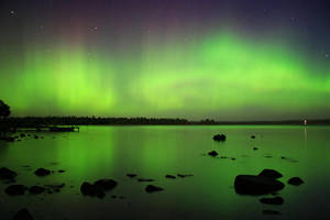 Auroras over Canoe Point by tfavretto