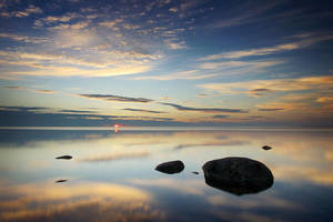 Calm Evening on Lake Superior by tfavretto