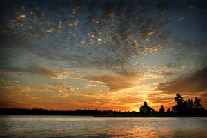 Shoal Island Sunrise by tfavretto
