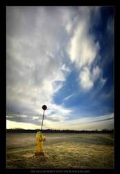 Yellow Robot w. Black Balloon by tfavretto