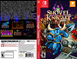 Shovel Knight Tresure Trove box art by JeffCross