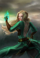 DnD character  - Mitifa (Jade Phoenix Mage) by miimystery