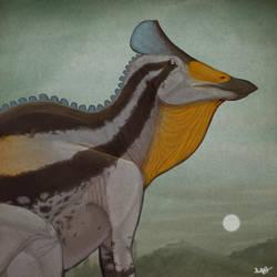 Augustynolophus (Saurolophus) morrisi by KirbyniferousRegret