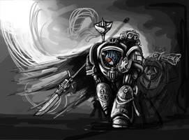 Shining Grey Armour by EuropaMaxima