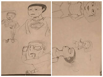 DC Heroes Sketches by Laizy-Eezy