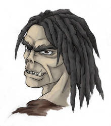 Aruhk the Half-Orc by Ralome