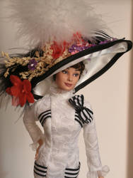 Audrey Hepburn My Fair Lady OOAK doll by lulemee