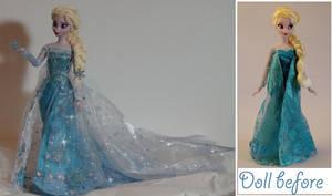 Elsa the Snow Queen OOAK by lulemee