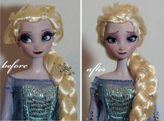 LE Elsa OOAK doll by lulemee