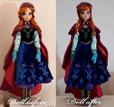 LE Snow Gear Anna OOAK doll by lulemee