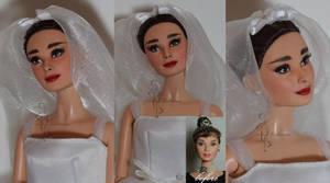 Audrey Hepburn OOAK doll - WIP by lulemee
