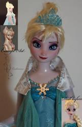 Evil Elsa OOAK doll by lulemee