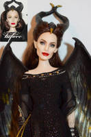 Maleficent OOAK Doll by lulemee