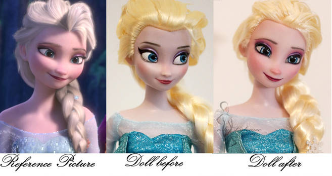 Frozen Elsa commissioned repaint by lulemee