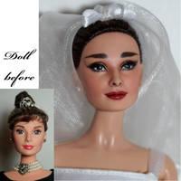 Audrey Hepburn repaint by lulemee