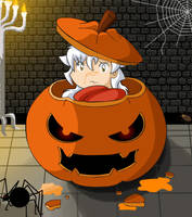 Chibi Inu halloween by ByakuyaoftheDreams