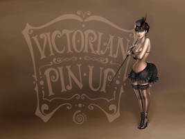 WALLPAPER victorian pin-up by CintiaGonzalvez