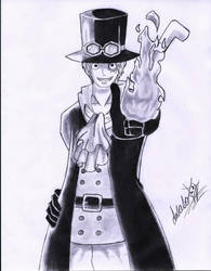 Sabo - One Piece by LusasoArt