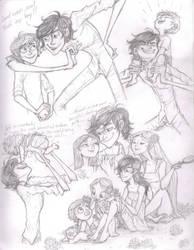 Skellington Family Time by Bonka-chan