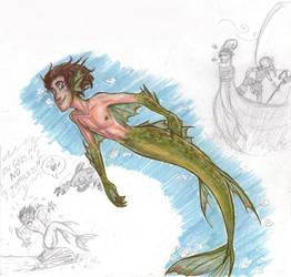 Merman Hiccup by Bonka-chan