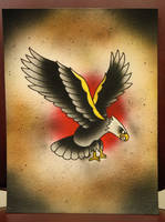 traditional eagle airbrush by deeperthanyou