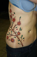 freehand cherry blossom front by deeperthanyou