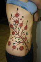 freehand cherry blossom side by deeperthanyou