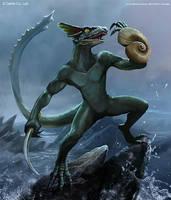 Lizardman Fighter (Common) by mictones