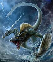 Lizardman Fighter (Uncommon) by mictones