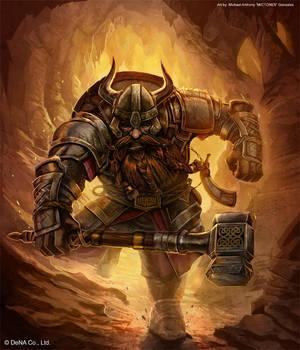 Dwarven Warrior by mictones