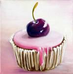 Cherry cupcake by Cora-Tiana
