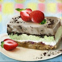 Strawberry cake by Cora-Tiana
