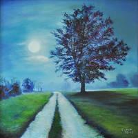 Night walk by Cora-Tiana
