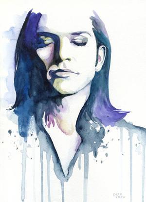 Brian Molko (Lilac) by Cora-Tiana
