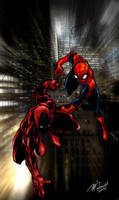Daredevil and Spiderman by mdavidct