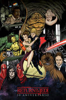 Star Wars Return of the Jedi commission by mdavidct