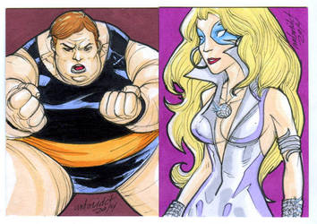 2 new Sketch Card commissions by mdavidct