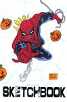 Spiderman sketch cover on my sketchbook blank by mdavidct
