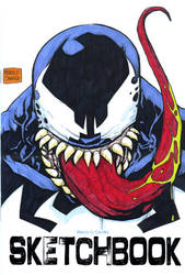 Venom bust sketch cover by mdavidct