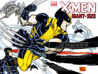 Wolverine and the X men cut out sketch cover by mdavidct