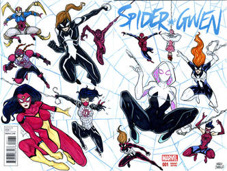 Spiderverse Web of the SPider Women two by mdavidct