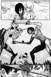 Eva Unit 01 -vs- Eren Titan by Veon-Kun